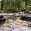 Rushing water in river — Stock Photo