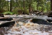 冲河里的水 — 图库照片