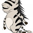 Stock Vector: Enamored zebra. Cartoon