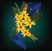 野生の花で飾り。鎮静 — ストックベクタ