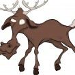 Elk. Cartoon - Stock Vector