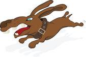 Running dog.Cartoon — Stock Vector