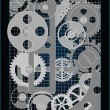 Stock Vector: Background with gears