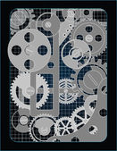 Background with gears — 图库矢量图片
