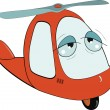The little toy helicopter. Cartoon — Stock Vector