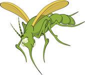 Terrible mosquito. Cartoon — Stock Vector