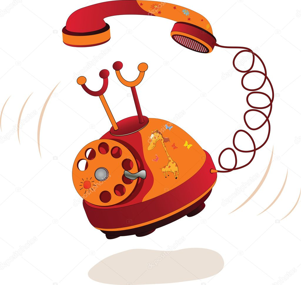 Summer phone Cartoon retro telecommunications — Stock Vector #5680881