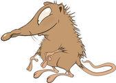 Small mouse.Cartoon — Stock Vector
