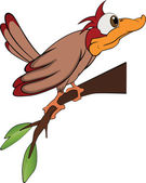 Bird woodpecker. Cartoon — Stock Vector