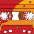 Audio Cassette Tape - Stock Vector