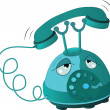 Tired phone. Cartoon - Stock Vector