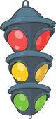 Traffic light. Semaphore. Cartoon — Stock Vector
