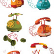 Complete set of phones — Vettoriale Stock #5847236