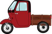 The old car. Cartoon — Stock Vector