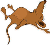 Sleeping little mouse. Cartoon — Stock Vector