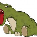 Small kind dragon from a fairy tale. Cartoon — Stock Vector #6053946