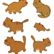 Cats.Clip-Art. Cartoon - Stock Vector