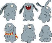 Illustraties. over een blauwe konijnen — Stockvector