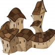 Royalty-Free Stock Vector: The old Castle from a fairy tale. Cartoon