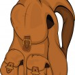 School backpack. Cartoon - Imagen vectorial