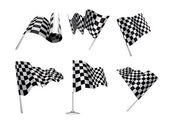 Checkered Flags set — Stock Vector