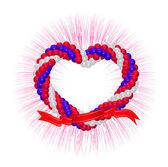 сердце от воздушных шаров — Cтоковый вектор
