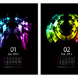 Calendar set - Stock Vector