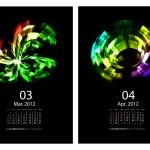 Calendar set — Stock Vector #5770463