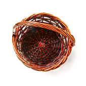 Handmade rattan basket on white background — Fotografia Stock
