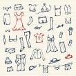Collection of clothes sketch for your design — Stock Vector #5553585