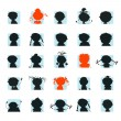 Vector de stock : Icon, silhouettes of avatar