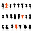 Icon, silhouettes of avatar — Vector de stock