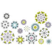 Geometrische bloemen, achtergrond voor uw ontwerp — Stockvector