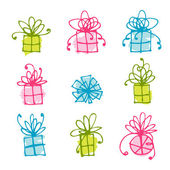 Gift box icons for your design — Stock Vector