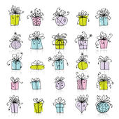 25 gift box icons for your design — Stock Vector