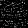 Seamless background with math formulas on blackboard - Imagens vectoriais em stock