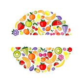 Energy fruits, frame for your design — Stock Vector