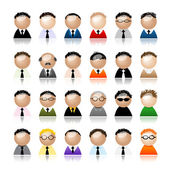 Set of business men peoples icons, cartoon for your design — Stock Vector