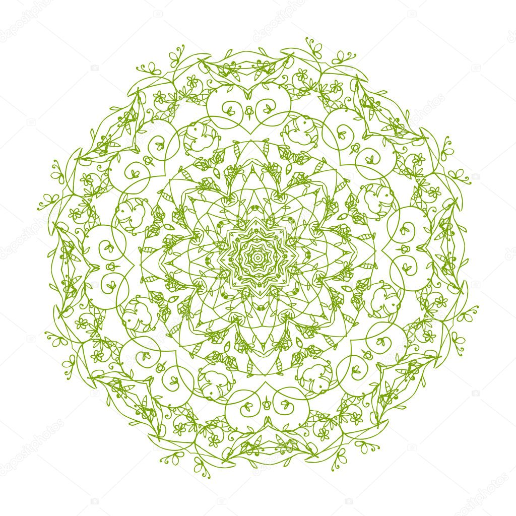 Arabesque ornament for your design stock vector for Arabesque style decoration