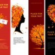 Autumn banners vertical for your design — Imagens vectoriais em stock