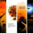 Vecteur: Halloween banners vertical for your design