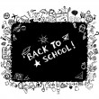 Royalty-Free Stock Immagine Vettoriale: Back to school, sketch frame for your design