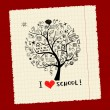 Royalty-Free Stock Vector Image: Tree of knowledge, concept of school for your design