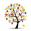 Art tree beautiful for your design — Stock Vector #6469666