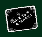 Back to school, sketch frame for your design — Stock Vector