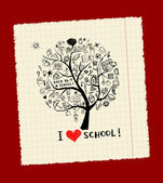 Tree of knowledge, concept of school for your design — Stock Vector