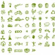 Green ecology icons for your design — Stock Vector