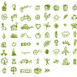 Royalty-Free Stock Vector Image: Green ecology icons for your design