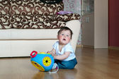 Little boy with toy — Stock Photo