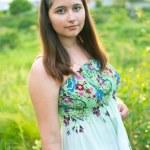 Girl in light dress — Stock Photo